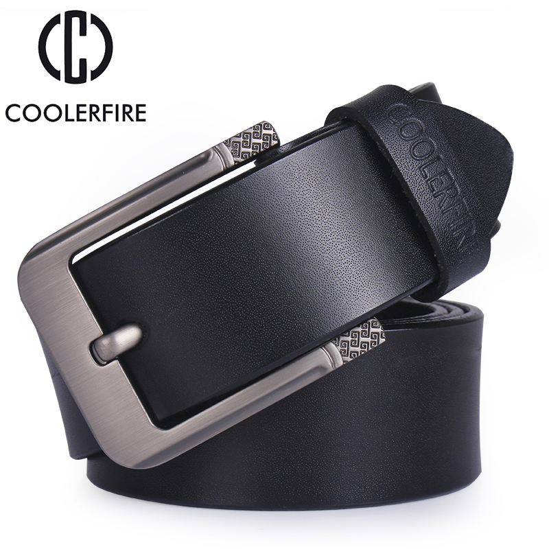 CM4 Mens Real Genuine Leather Black Belt 1.5 Wide S-XL Thick Long Casual Jeans