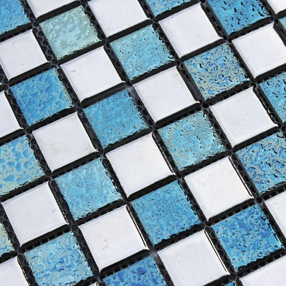 azulejos de cermica de color rosa de plata de cermica azul hmcm para bao ducha mosaico