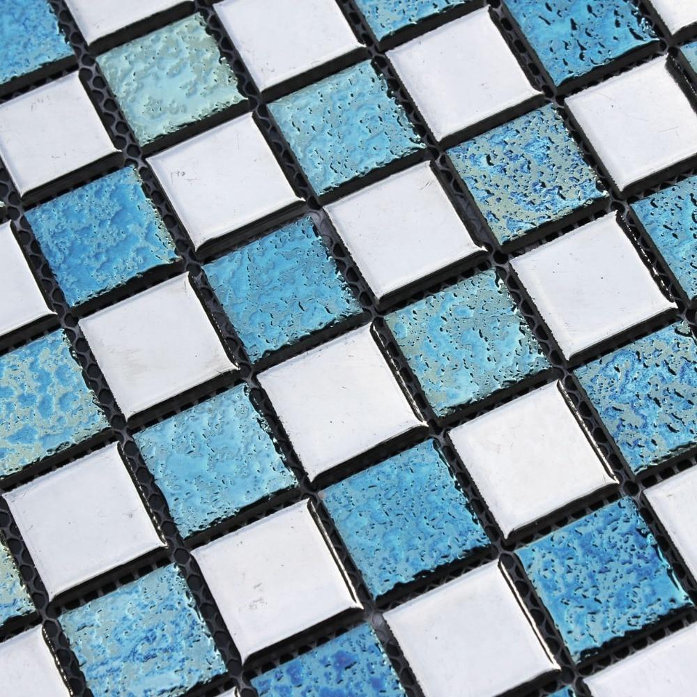 Plata de cerámica azul Rosa azulejos HMCM1032 para baño ducha ...