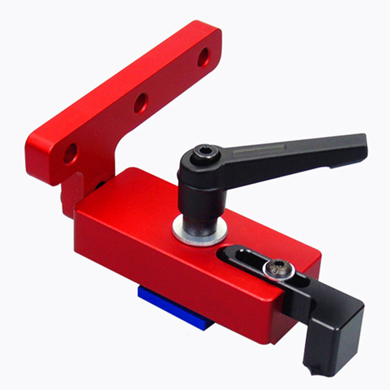 Woodworking T-track T-slot Miter Track Stop Doweling Fixture Drill Guide Locator For 45mm T-track DIY Manual