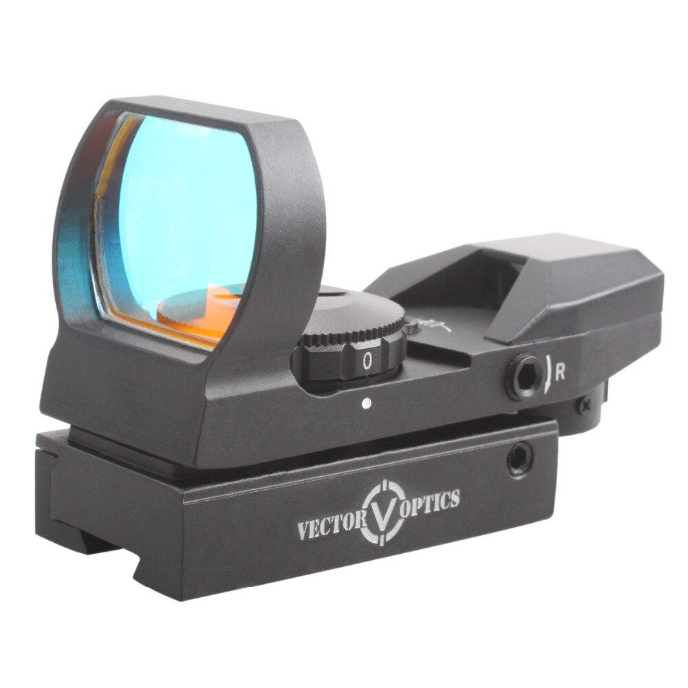 Livraison Gratuite Vectorielle Optique 1x23x34 Multi Réticule Reflex Red Dot Portée Gun Sight avec 11mm queue d'aronde base de montage