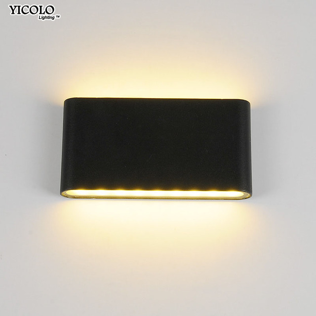 6W/12W LED Outdoor Wall Lamps Waterproof white /black Lamp Indoor led Stair Light Corridor lighting for bedside  lights fixtures