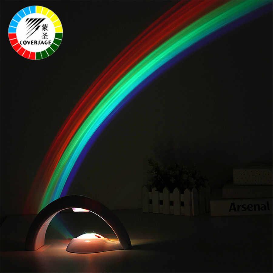 Coversage Радуга Ночник проектор для детей Детские спальные Романтический светодио дный Светодиодная лампа атмосфера Новинка дома лампы