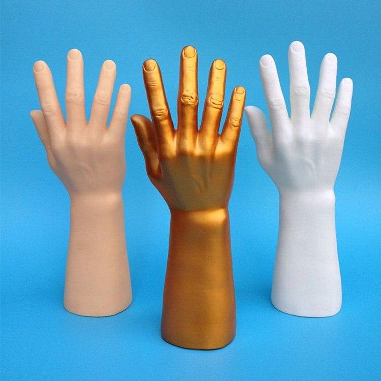 Free shipping 3Pc Nail Art Fake Model Watch Ring Bracelet Gloves ...