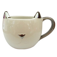 1 pcs Cat ears mug creative ceramic cup personality ceramic mug ceramic coffee cup breakfast milk cup office drink 6ZDZ102
