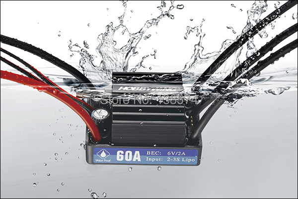 Hobbywing Seaking-60A-V3 Electronic Speed Controller ESC with Water Cooling hobbywing seaking 60a v3 electronic speed controller esc for rc boats free shipping with tracking