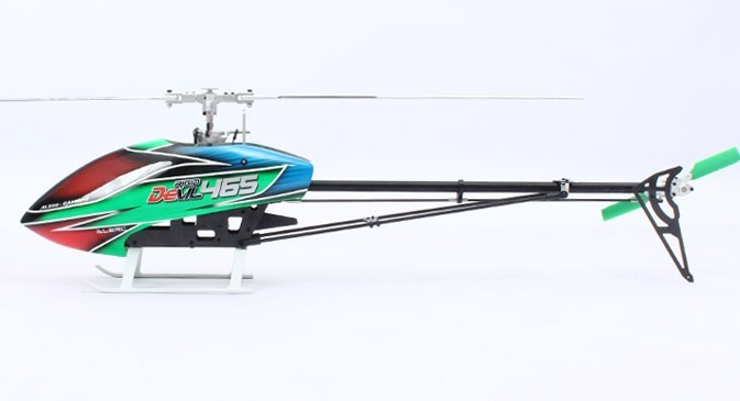 ALZRC - Devil 465 RIGID SDC/DFC Helicopter  Empty Machine alzrc devil 500 pro sdc dfc brushless esc motor carbon fiber structure 3300mah battery flybarless gyro system rc helicopter kit