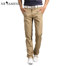 2017 New Fashion Mens Straight Cargo Pants Chinos Men Casual Slim Fit Spring Army Green Trousers Clothing Big Size 13M0554