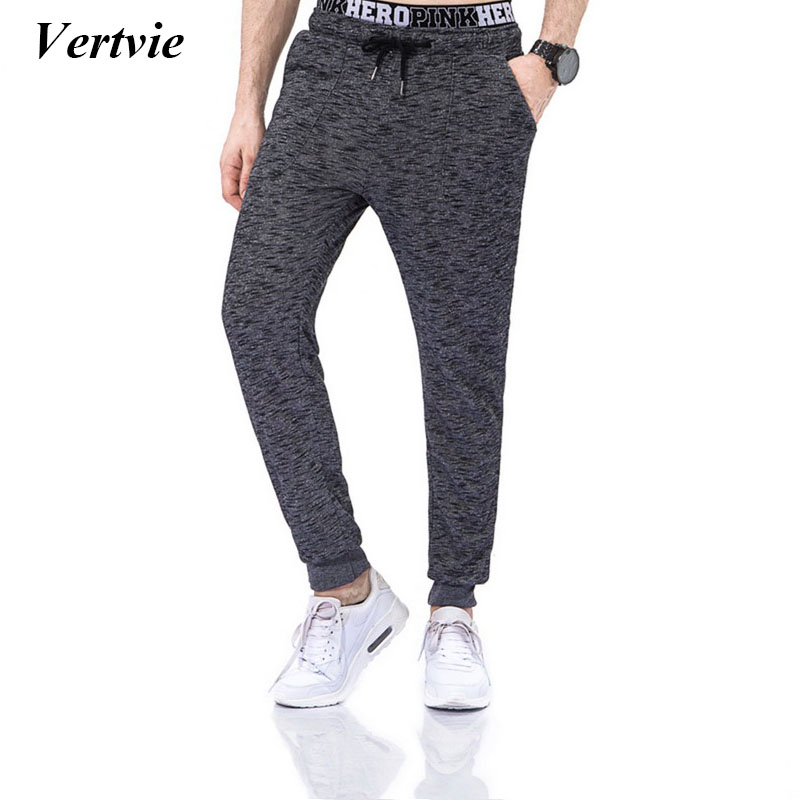 Vertvie Knitted Men Running Pants Solid Color Gym Bottoms Outdoor Run Jogging Trousers Elastic Winter Sportswear Sweatpant New ...