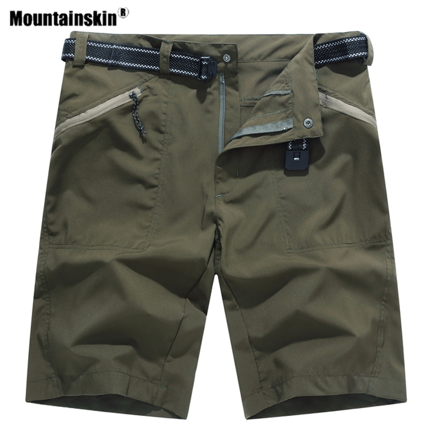 Mountainskin Men Summer Quick Dry Hiking Shorts Sportswear Breathable Trekking Camping Fishing Running Male Short Trousers VA503