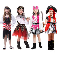 Halloween Carnival Party Costume For Girl Girls Kids Children Pirate Costumes Fantasia Infantil Cosplay Clothing