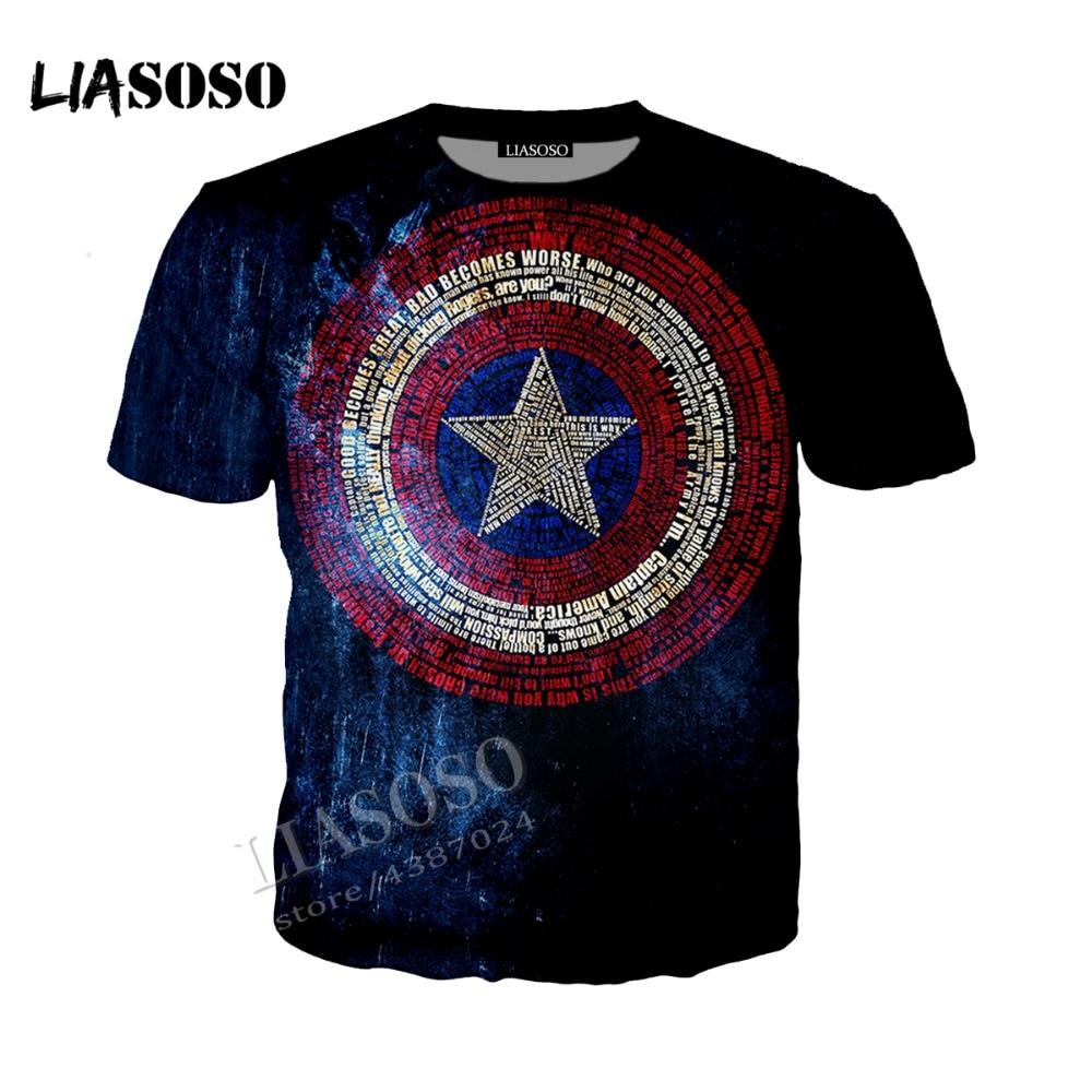 efd7423e9ff0b LIASOSO Neutral Pullover Marvel Movie 3D Print Captain America Logo Jacket    coat   Hat coat   Zip Hoodie CX069-in Hoodies   Sweatshirts from Men s  Clothing ...
