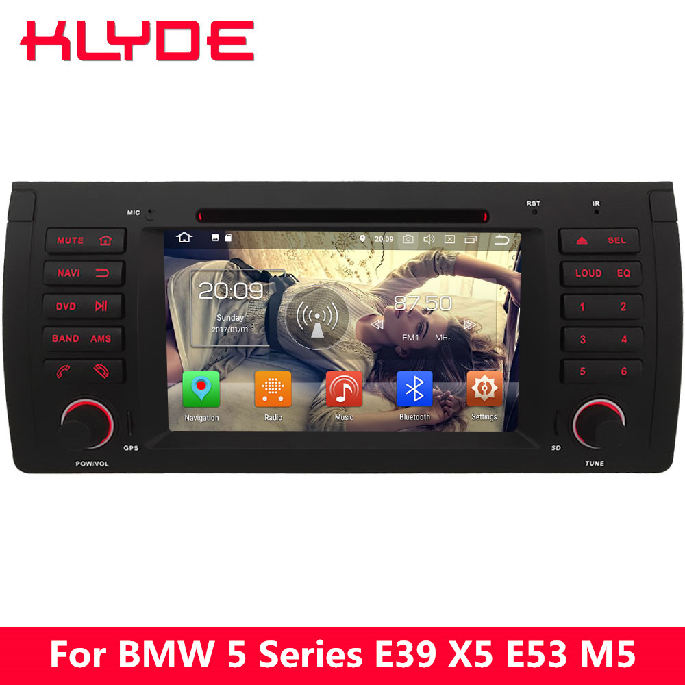 KLYDE 4G Android 8.0 7.1 Octa Core 4GB RAM 32GB ROM BT Car DVD Player Radio GPS Navigation For BMW X5 M5 5 7 Series E38 E39 E53 elephone p9000 android 6 0 4g phablet mtk6755 octa core 2 0ghz 5 5 дюймовый 4gb ram 32gb rom 13 0mp основная камера type c