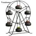 Limited Edition Succulente Planter Reuzenrad Iron Plant Houders Set Indoor Tuin Potten Plantenbakken voor Vaas Decor Container Potten