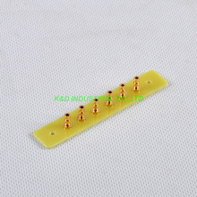 2pcs Fiberglass Turret Tag Board Terminal Strip Amp 6 Lug Gold for Tube Amplifier Parts