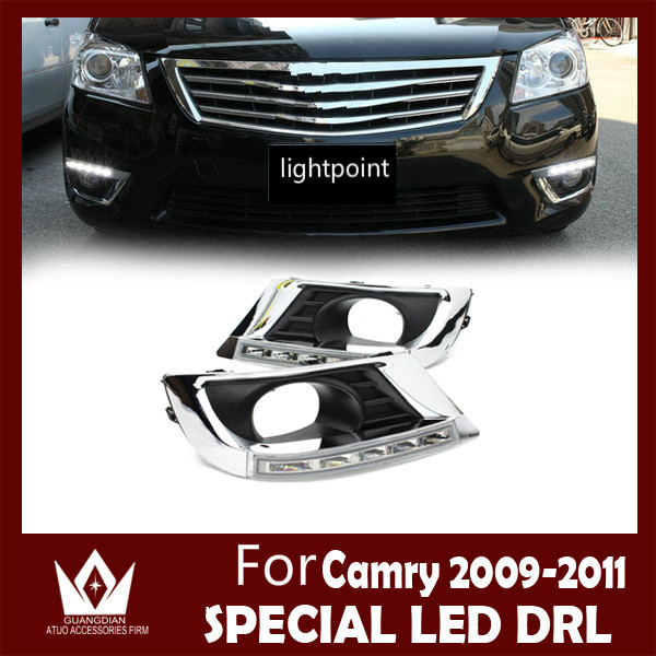 Guang Dian car led light For camry  2010 2011 daytime running lights DRL front lamps auto car products accessory car styling guang dian car led light gold color daytime running lights