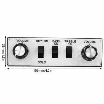 Prewired szerokość płytka kontrolna załadowane wiązki przewodów do przełączania gałki gitara płytka instrumenty strunowe akcesoria tanie i dobre opinie CN (pochodzenie) Prewired Width Control Plate