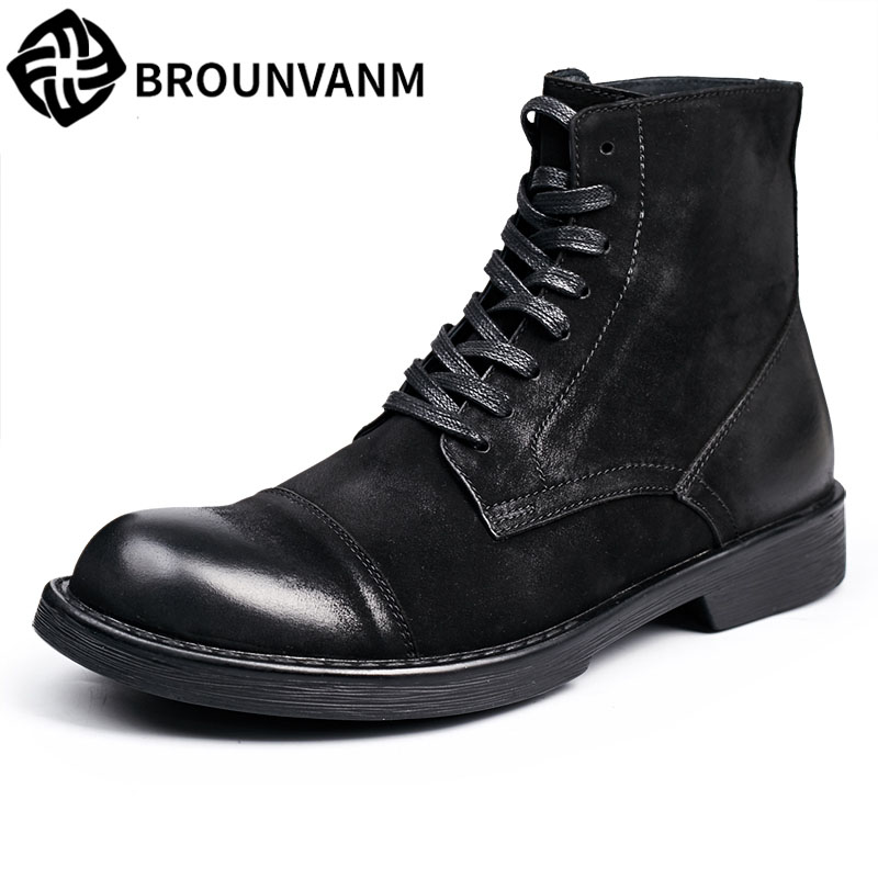 autumn winter British retro men shoes zipper leather shoes breathable Men's leather shoes Martin boots men 2017 new autumn winter british retro zipper leather shoes breathable sneaker fashion boots men casual shoes handmade