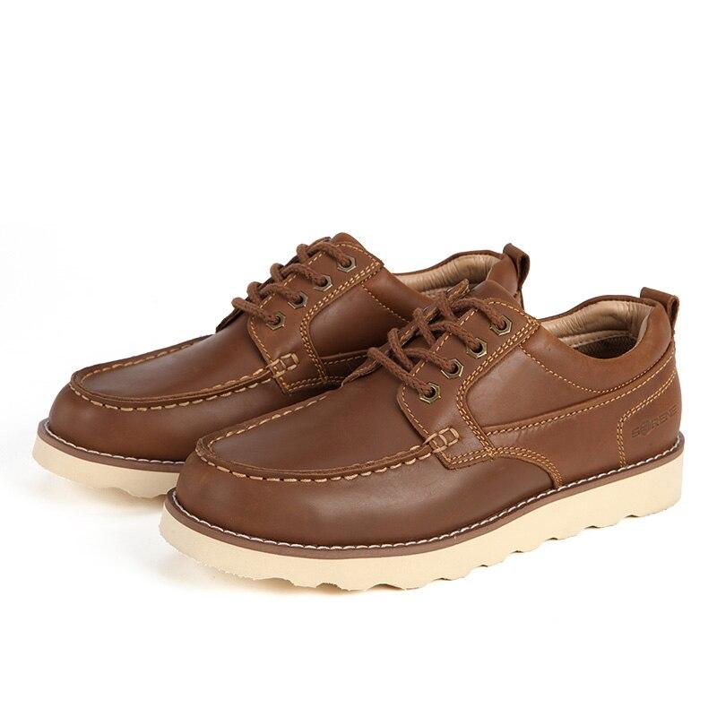 Oficina Calzado Cuero Zapatos Casual Trabajo Brown khaki Split Tobillo Gran Niza Hombres Creepers Herramientas Oxford Bqw1gq