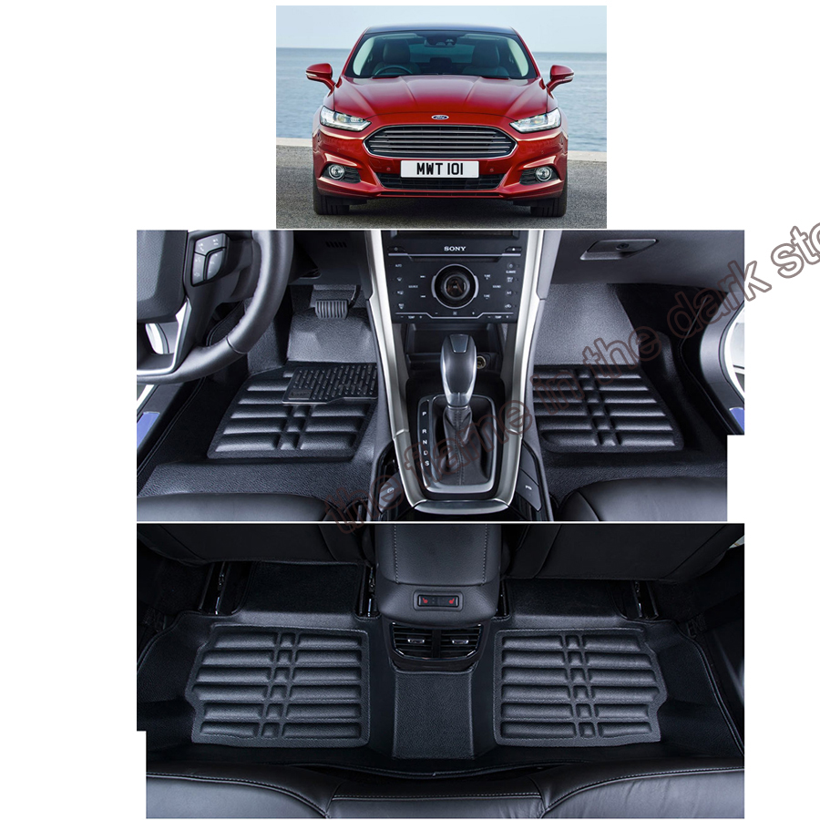 fast shipping leather car floor mat carpet rug for Ford Mondeo Mk V ford fusion 2014 2015 2016 2017 2018 4th generation free shipping leather car floor mat for chevrolet sail 2nd generation 2010 2011 2012 2013 2014 2015 2016