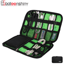 Electronic Accessories Bag Holder Earphone Cables USB Flash Drives Organizer Polyester Travel Digital /Electric Wire Storage Bag