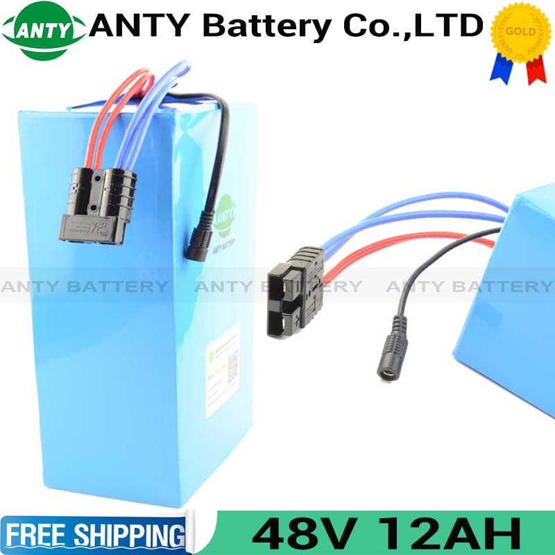 eBike Battery 48V 12Ah 500W 18650 Lithium Battery Pack 48V With 2A Charger 15A BMS Electric Bicycle Battery 48V 800 Times Cycles 30a 3s polymer lithium battery cell charger protection board pcb 18650 li ion lithium battery charging module 12 8 16v
