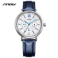 SINOBI Women Ladies Fashion Wrist Watch Clock Leather Strap Gold Quartz Woman's Watches Female Casual Watch reloj mujer xfcs