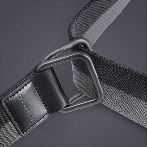 Image 4 - Youpin Qimian Fashion Elastic Fabric Sports Tactical Belt Double Ring Alloy Buckle Leather Rinforcement Comfortable Mens Belt