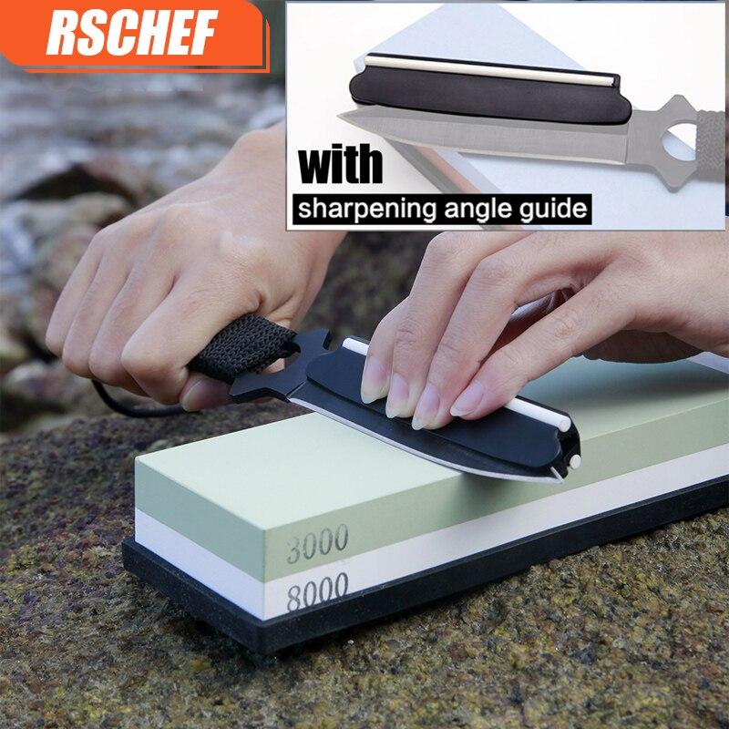 3000/8000 # couteau Pierre à eau Poussière Abrasive whetstone professionnelle couteau de cuisine aiguiseur diamant aiguiser un couteau pierre pierre à huile