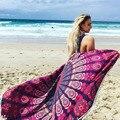 Round Beach Towel Multifunctional Geometric Print Mandala Swimwear Cover Ups Bikini Wear Tunic Pareo Bathing Beach Towels