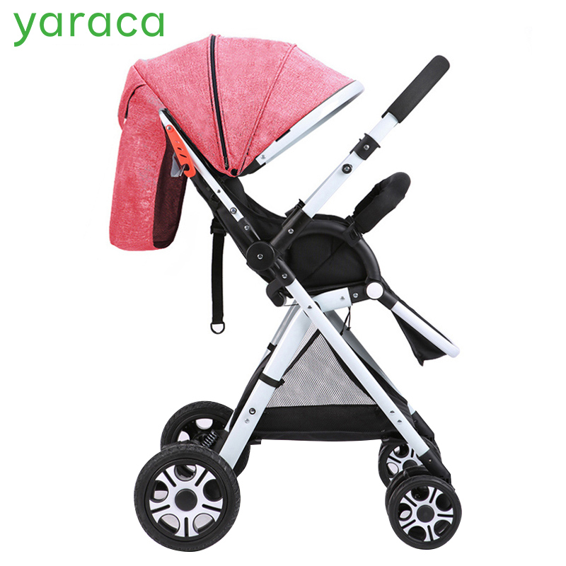 Folding Baby Stroller Lightweight Baby Prams For Newborns High Landscape Portable Baby Carriage Sitting Lying 2 in 1