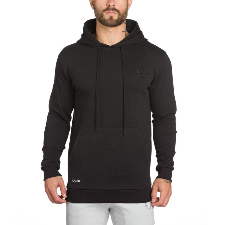 Hommes Fitness extrait entraînement Slim Fit sweat à capuche poche sweat Muscle Building musculation manteau pour hommes