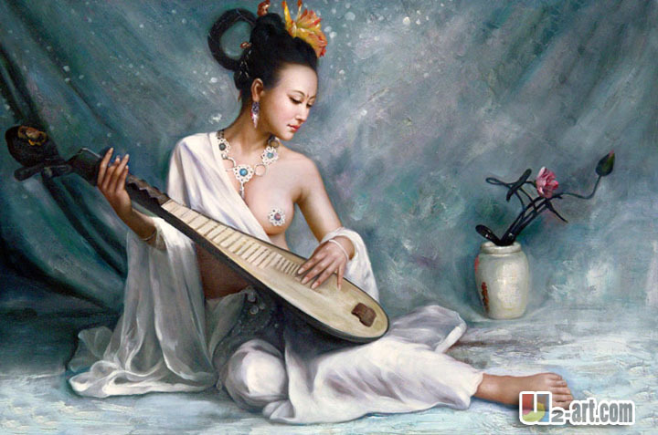 Sing Girl Figure Canvas Prints China Modern Prints By Chinese Artist