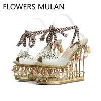 Роскошные брендовые сандалии, коллекция 2019 года, женские сандалии гладиаторы с открытым носком и ремешком на щиколотке, золотистые, металли