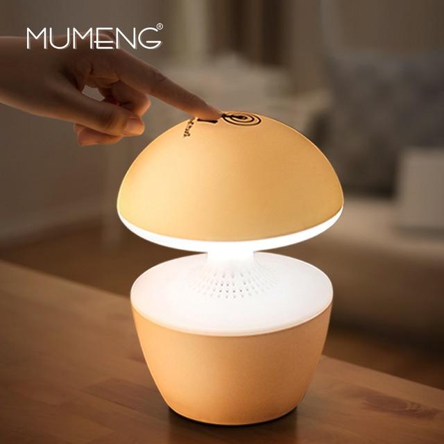 Mumeng USB ночник 3D звук музыка детские лампы musshroom touch Сенсор Спящая свет Динамик затемнения красочные ночника