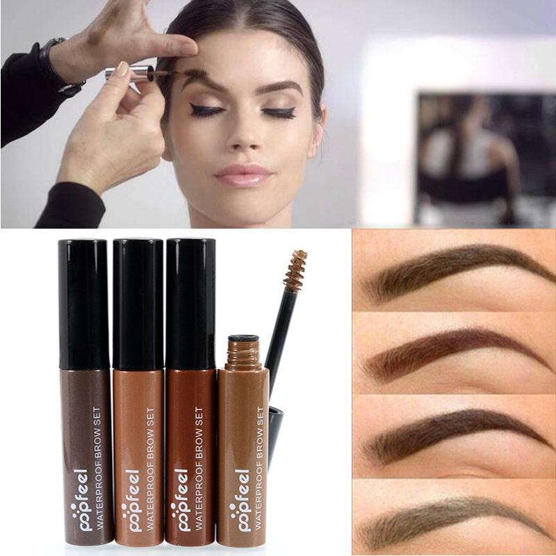 2016 Hot Brand Makeup Eye Brow Gel Coffee Black Brown Paint Eyebrows Gel Waterproof Eyebrow Tint Mascaras Kit Sobrancelha 目