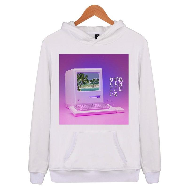 cec8d956a vaporwave Aesthetic sweatshirt men long sleeve hoodies streetwear 2018  autumn brand funny man's fit tracksuit hoodie