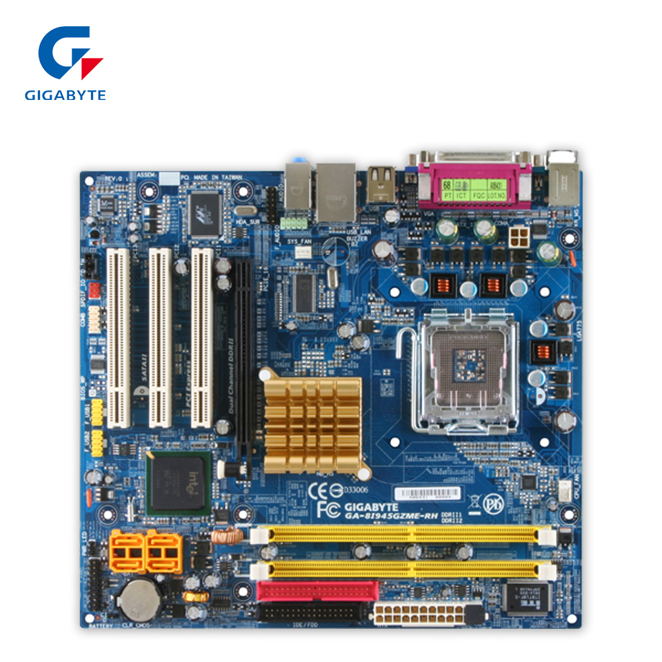 Original Gigabyte GA-8I945PLGE-RH Desktop Motherboard 8I945PLGE-RH 945PL LGA 775 DDR2 ATX 100% Fully Test original gigabyte ga 945plm ds2 desktop motherboard 945plm ds2 945pl lga 775 ddr2 micro atx 100% fully test
