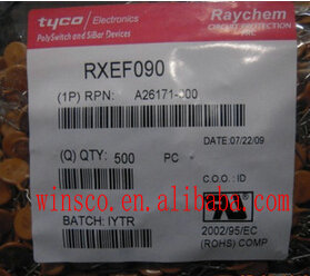 RXEF090 100% NEW TYCO FUSE POLYSWITCH RXE SERIES 0.9A hold RXE090 500PCS/LOT