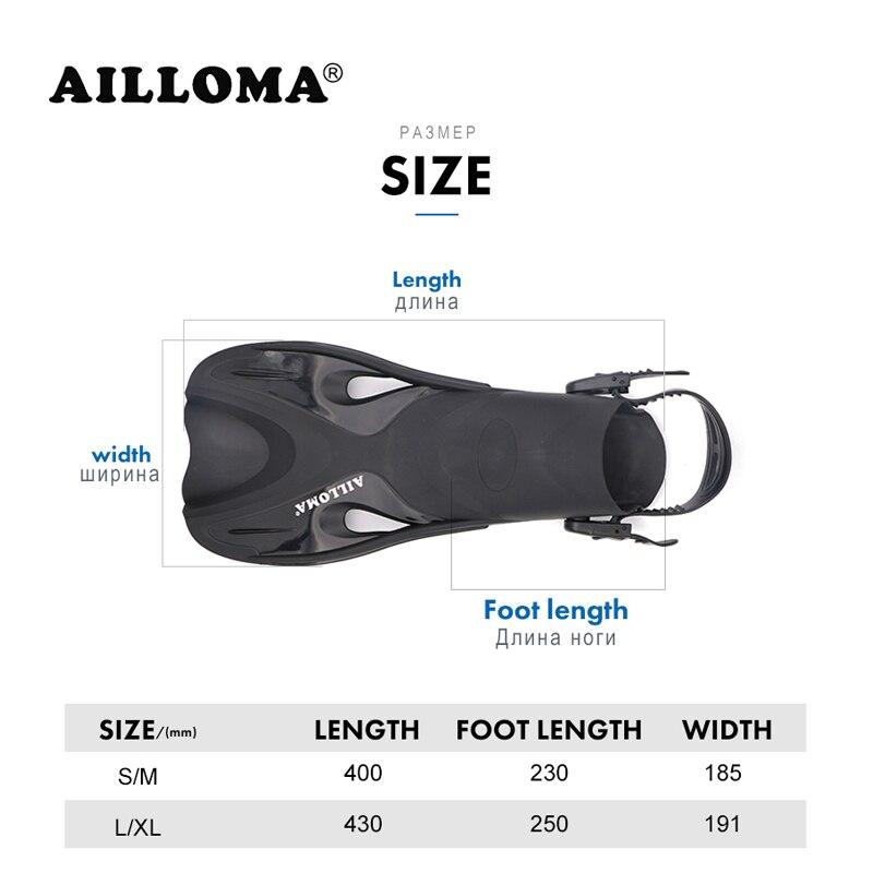AILLOMA Réglable Boucle Caméra Plongée Masque Tuba Ensemble Complet Sec Tube Plongée En Apnée Anti-Brouillard Lunettes Plongeur équipement Ailettes - 5