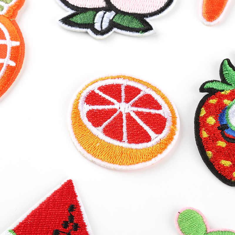 الفاكهة الأناناس الخضار التطريز الحديد على بقع للملابس التطريز شريط على الملابس لطيف DIY الترتر زين شارة