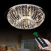 Простой и современный G4 LED пульт дистанционного круговой Творческий теплая спальня исследование кристалл лампы освещения потолка светильн