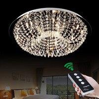 Простой и современный G4 LED пульт дистанционного круговой Творческий теплая спальня исследование кристалл лампы освещения потолка светильн...
