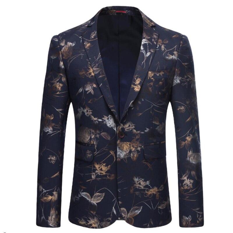 Veste Offre Slim Élégant Hiver Bleu Casual Hombre Formelle Hommes pourpre Imprimer Spéciale 2018 Automne Blazer Mode blanc D'affaires Usure Vestes Fit qwFOB1