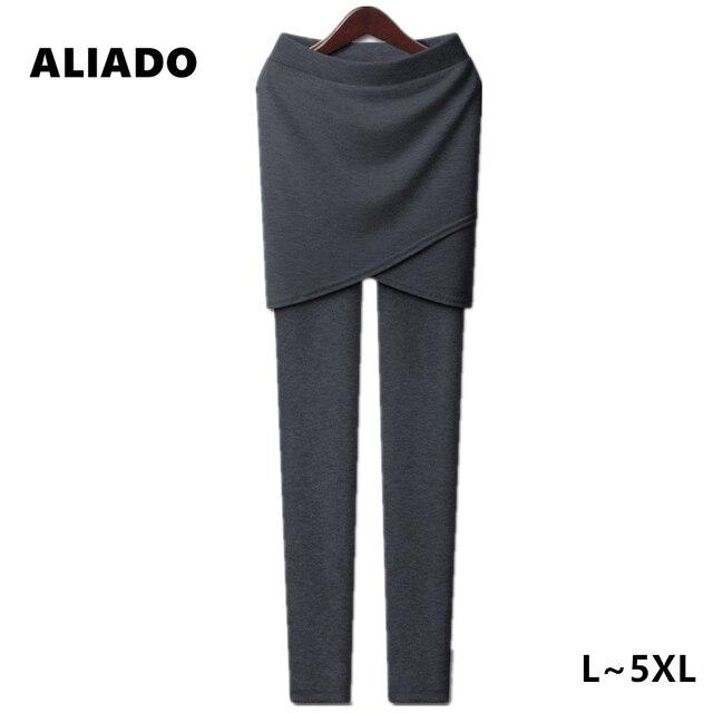 Spring Autumn Hot Sale Plus Size XL 3XL 5XL Fat MM Solid Gray Black Slim Side-Kick-Pleat Irregular Women Skirt Leggings