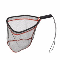 New Portable Lightweight Fly Fish Landing Net PE Multifilament Net With Alloy Handle Catch Carp Release Fishing Accesory