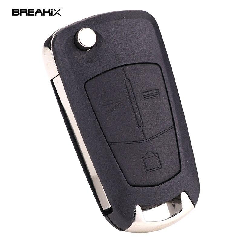 Breakix Car Keys 3 Button Flip Key Shell For Opel Vauxhall ...