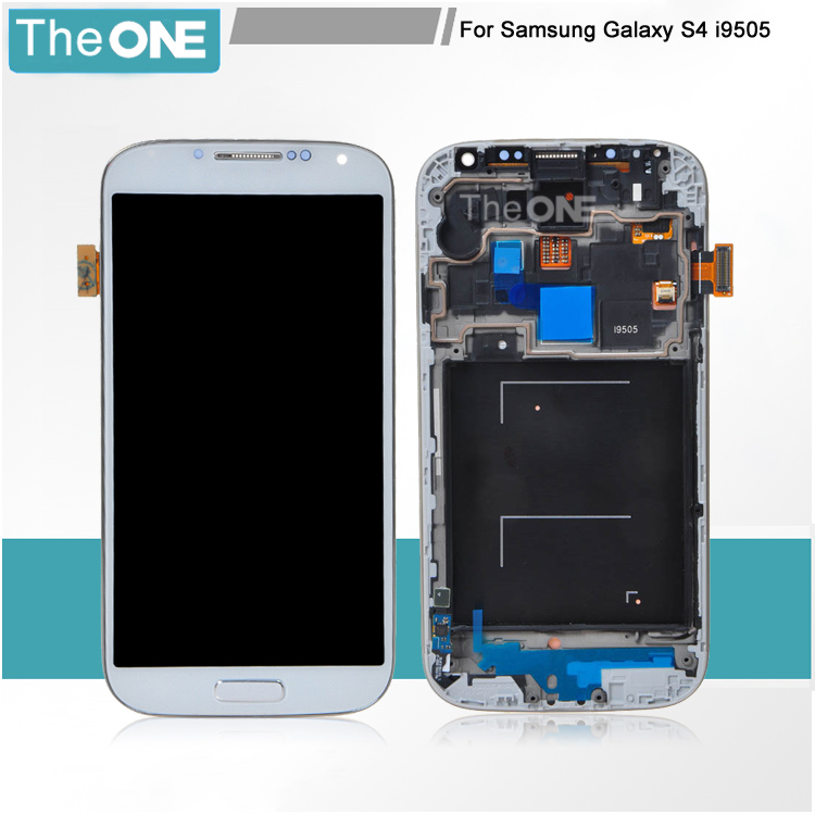 For Samsung For Galaxy S4 i9505 LCD Display Touch screen Digitizer With Frame Assembly Replacement Parts + Free Shipping replacement lcd display touch screen digitizer with frame assembly repair part for samsung n7100 galaxy note2 white