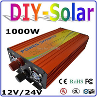 1000W Solar Wind Power Inverter DC TO AC Inverter 12V 24V DC to AC 110V 220V 230V 100% Pure Sine Wave Output Off Grid Inverter