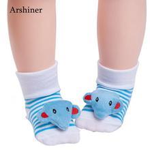 As и Picture/мягкие Нескользящие Теплые повседневные носки унисекс для девочек милые Нескользящие Носки с рисунком для новорожденных мальчиков